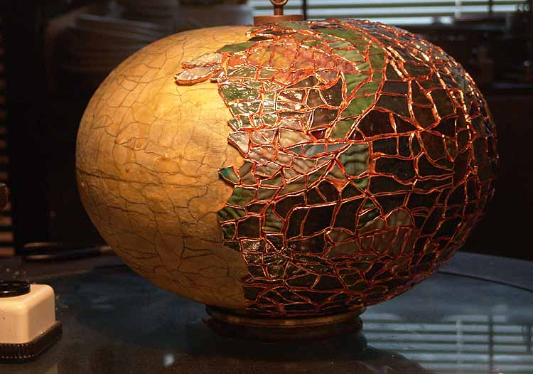 """Tiffany Lamps: The making of 16"""" Fishbowl globe We keep the ..."""